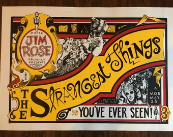 Moe Show Poster Jim Rose presents The Strangest Things gig poster Triangle/Slash (Ashleigh Talbot) 23 x 16