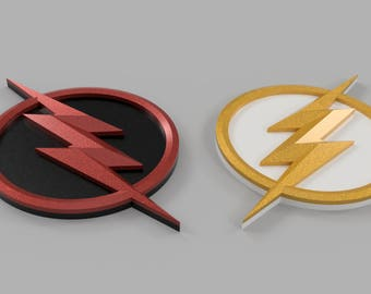 The Flash and Reverse Flash Logo 3D Models for 3D printing