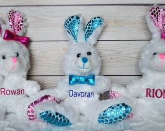 Easter gift baby etsy personalized stuffed animal bunny lamb bear kids birthday gift personalized stuffed negle Image collections
