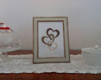 "Shabby chic ""Hearts"" square"