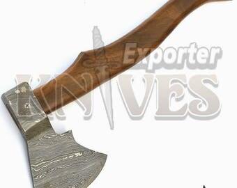 "Custom Damascus Throwing Axe/Hatchet S458 14"""