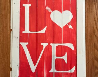 Love Sign | Valentine's Day Sign | Farmhouse Sign