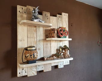 3 Tier Shelving Unit, Made from up-cycled pallet wood