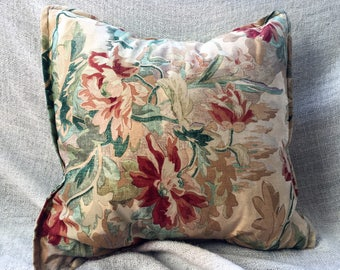 Gold and Green floral handmade Designer Guild decorative cushion cover (50X50cm)