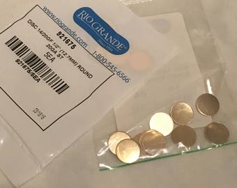 Gold Filled Disc 12.7mm - Gold Filled Stamping Blank 1/2 Inch Circle