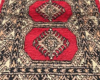 119 x 78 cm Vintage Pakistani Bokhara Carpet Rug 10025
