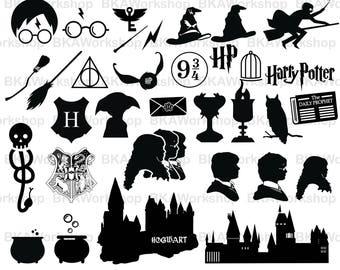 Harry Potter svg - Harry Potter Silhouette - Harry Potter digital clipart for Design or more, files download svg, png, jpg, eps