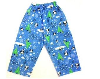 Flannel snow man pajama pants