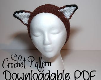 Fox Ear Headband Crochet Pattern - Easy To Follow - With Pictures