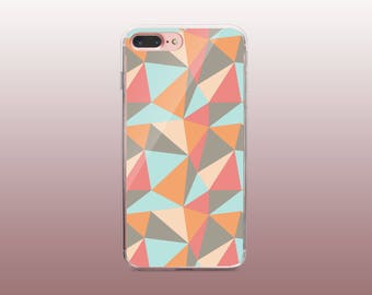 Triangle TPU Phone Case for iPhone 8- iPhone 8 Plus - iPhone X - iPhone 7 Plus-iPhone 7-iPhone 6-iPhone 6S-Samsung S8