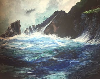 Painting, Seascape , Atlantic Ocean, Ireland , Dingle