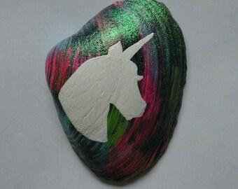 Hand painted seashells art