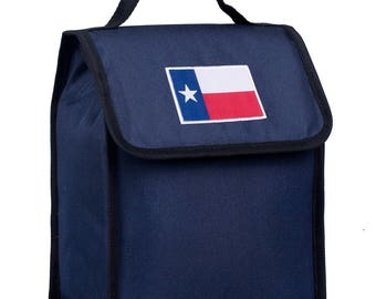 State of Mind Texas Flag Lunch Bag