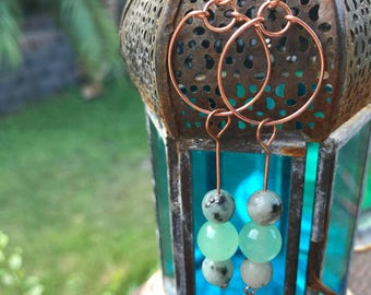 Handmade Raw Copper Circular Wire Earrings