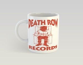 Death Row Records 11oz Coffee Mug Snoop Dogg Tupac Dr. Dre Rap West Coast G-Funk Hip Hop