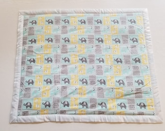 Elephant Baby Blanket for a Boy or Girl