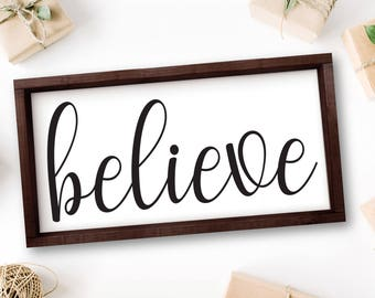 Believe, Large Wall Art, Quotes, Signs, Office Rustic Decor, Office Decor, Inspirational Gifts, Rustic Wood Signs, Quote Rustic Signs