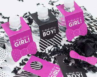 It's a Girl and It's a Boy Water Bottle Labels for Gender Reveal Baby Shower