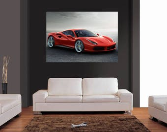 Ferrari 488 GTB wallpaper home decoration photo poster