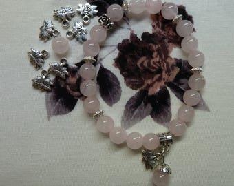pink quartz Bracelet 8mm