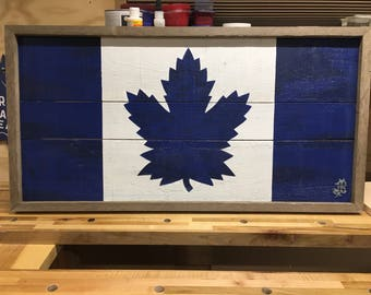Toronto Maple Leafs wood sign