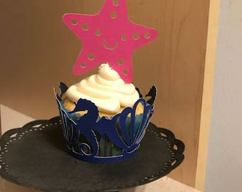 Starfish {simple star} cupcake topper