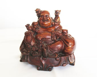Laughing Buddha With Five Babies