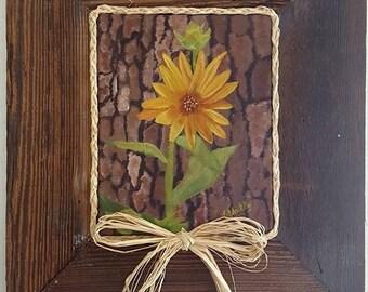 Forest Flower in Barnwood Frame