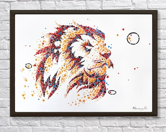 Lion animal oil painting, animal painting, lion painting, original oil painting, abstract oil painting, oil Painting, acrylic painting