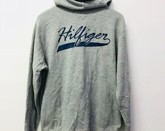 FREE SHIPPING!!! Vintage Tommy Hilfiger Hoodies Big Logo Extra Large Size