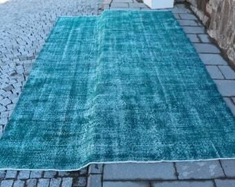 Free Shipping 6.7 x 11 ft. large size unique turkish rug, anatolian nomadic rug, rustic rug, bohemian rug, overdyed rug, area rug, MB332