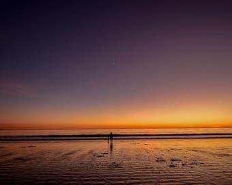 California beach, fine art print, santa monica photograph, beautiful california, sunset on the beach