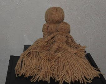 Mother and Child Yarn Dolls