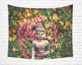 "Buddha Leaves Wall Tapestry 60""x 51"" (3 colors)"