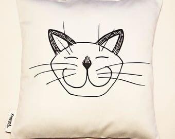 MOO pillowcase cat