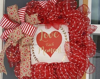Valentines Day Wreath...Love is Enough