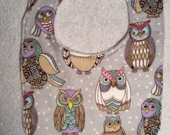 Owl Baby Bibs (Large Owls)