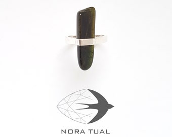Epidote and 925 sterling silver ring