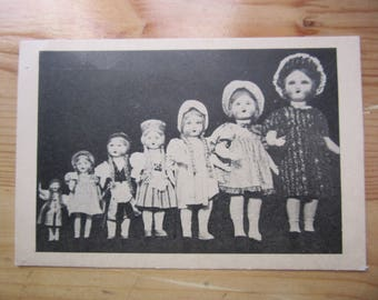 Doll Baby Girl Toy  manufacture - shop advert Reclame card Postcard 1930ies