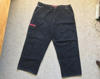 Men's Vintage 90s Tommy Jeans Hilfiger Black Denim Jeans Size 40/30