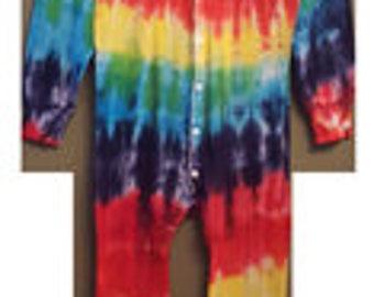 Adult tie dye onesie