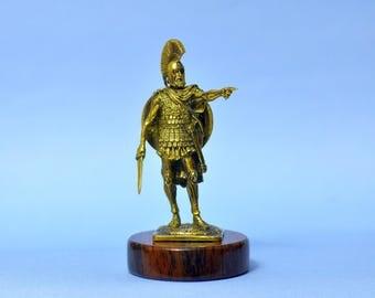 Art Deco Bronze Ancient Greek Spartan Warrior Sculpture Statuette Figurine