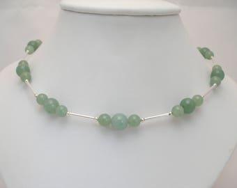 Aventurine & Sterling Silver Necklace