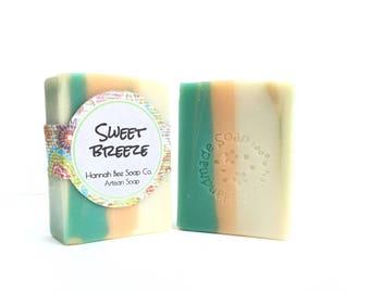 Sweet Breeze bastile Soap- natural soap- handmade- cold process soap, olive oil soap, scented soap fruity soap