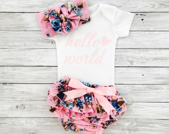 Newborn Girl Outfit, Baby Girl Coming Home Outfit, Infant Girl Clothes, Newborn Girl Outfit Summer,Infant Girl Outfits,Take Home Outfit Girl