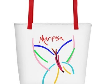 Butterfly Mariposa Fancy Beach Bag