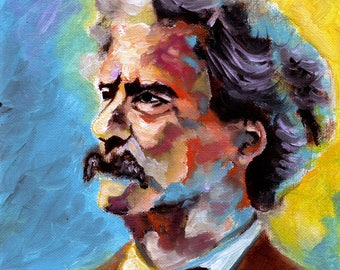 Oil portrait of Mark Twain