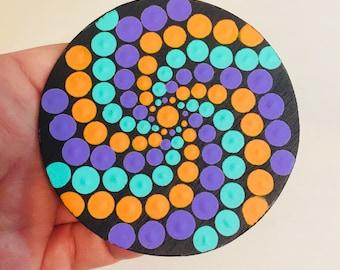 Unique Hand Painted Mandala Magnet