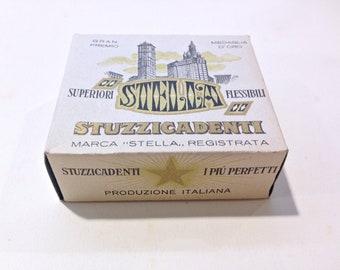 Italian Vintage  toothpicks  1950  collectible  Marca Stella RARE