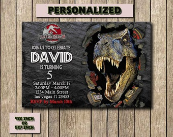 Jurassic World Invitation,Jurassic World Birthday,Jurassic World Birthday Invitation,Jurassic World Party,Jurassic Park Invitation,Printable